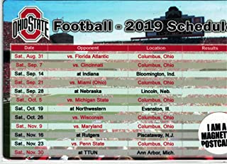 ohio state football schedule magnets
