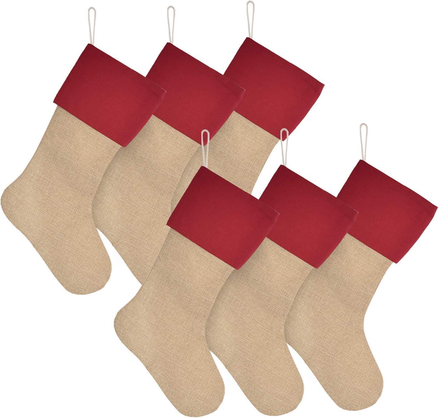 Elegantpark/Calze/Natale/Bianche/Grande/Set/4/Calze/Natalizie/da/Appendere/Sacchetti/Regalo/Natale/Decorazioni/Calze/Natale/Camino/Famiglia