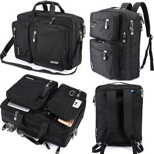 FreeBiz Laptop Backpack Messenger Bag-Hybrid Briefcase Backpack Vintage  Bookbag Rucksack Satchel-Nylon Water 96e826af7151