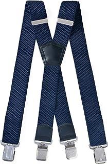 Miobo - Bretelle a X, unisex, super resistenti, 4 clip inclusi, larghezza 4 cm