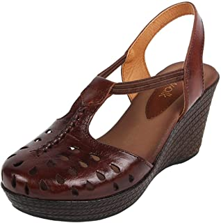Catwalk Women's Brown Wedge Sandals Fashion