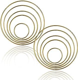 acchiappasogni Fai-da-Te 150mm Cerchio Anello per acchiappasogni FOROREH Anelli acchiappasogni Anelli in Metallo Cerchi in Metallo per acchiappasogni 38//50//75//100//130