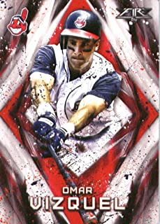 2017 Topps Fire #191 Omar Vizquel Cleveland Indians Baseball Card