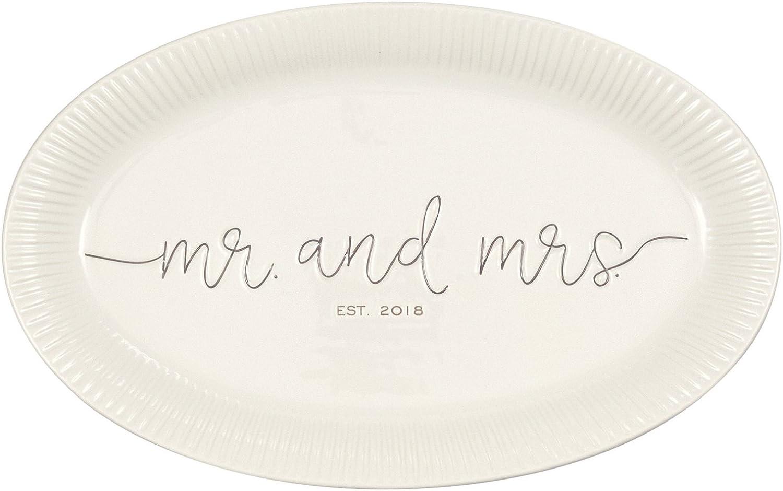 Mud Pie Mr. & Mrs. Wedding Platter
