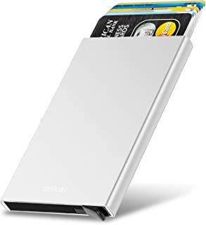Olixar Aluminium RFID Blocking Card Holder - Metal Case with Release Switch - RFID Protection (Silver)