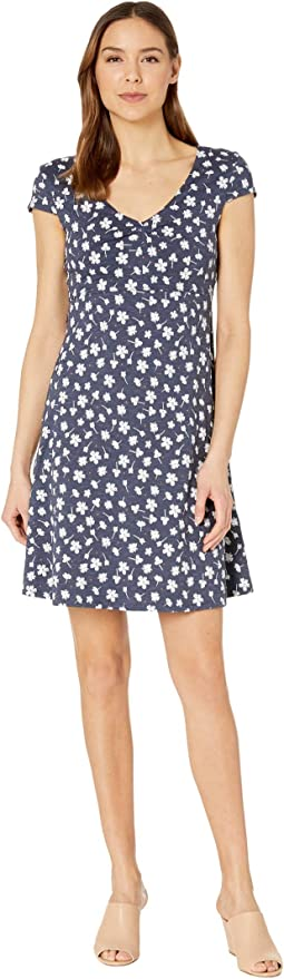 True Navy Tossed Floral Print