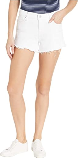 Gemma Mid-Rise Cut Off Jean Shorts in White