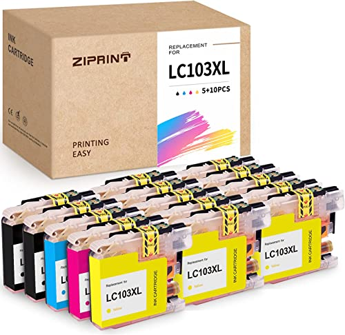 wholesale ZIPRINT Compatible Ink Cartridge popular Replacement for Brother LC103 LC103XL Work with MFC J4310DW lowest J4410DW J4510DW J4610DW J4710DW J6520DW J6720DW J6920DW J285DW J470DW J475DW J650DW J870DW(6B,3C,3M,3Y,15P outlet sale