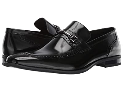 Stacy Adams Tanner Moe Toe Penny Loafer (Black) Men