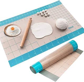 """Tapis de pâtisserie en silicone avec mesures, 36 """"x 24"""", bâtonnets entiers sur le comptoir pour pâte à rouler, surface de ..."""