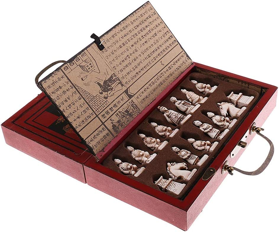 QIFFIY Chess Set safety Gift price Wooden Pieces Antique Chinese Bo