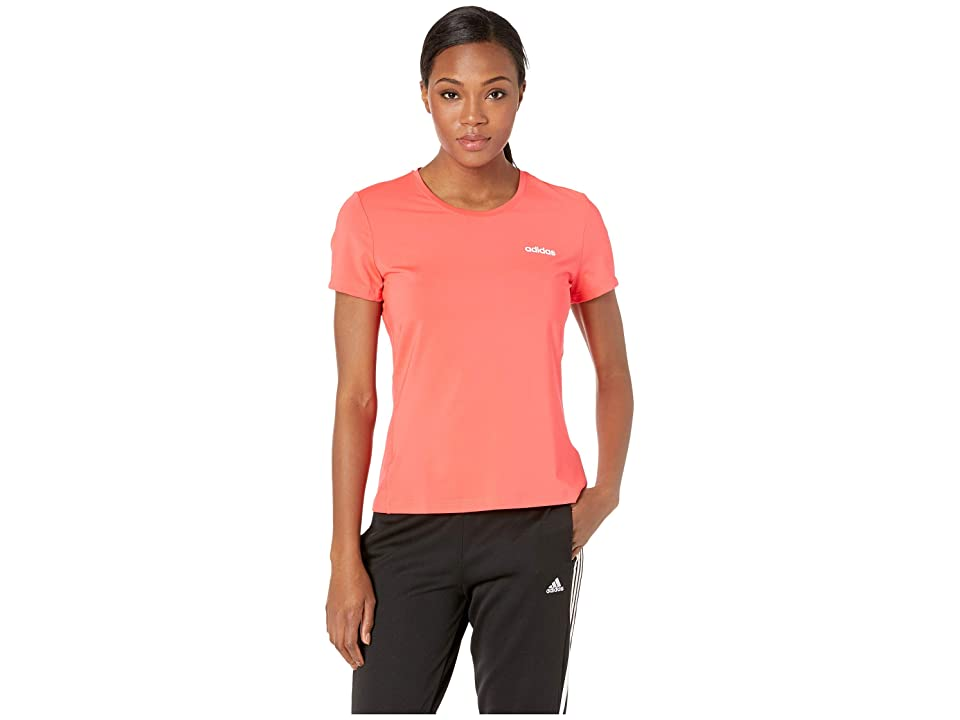 adidas Designed-2-Move Solid Tee (Shock Red) Women's T Shirt