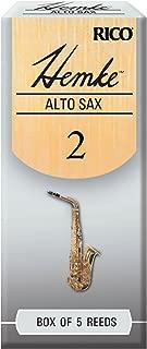 D'Addario Woodwinds Hemke Alto Sax Reeds, Strength 2.0, 5-pack - RHKP5ASX200