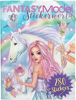Depesche-DP-0011243 Libro para Colorear Stickerworld, Fantasy Model, Aprox. 25 x 33 x 0,8 cm, Color carbón, 33x25x08cm (11...