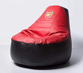 Arsenal Football Beanbag Comfortable Kids Adult Game Outdoor Indoor Lounge Chair Cover + Inner Bag (Without Beans)