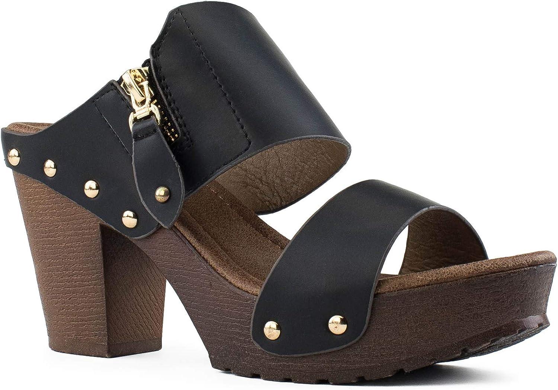 RF ROOM OF FASHION Women's Max 78% OFF Studded Arlington Mall Strap Decor Chu Zipper Double