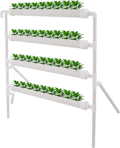 2021 Mophorn outlet online sale Hydroponic Grow Kit 36 Sites online sale 4 Pipes Hydroponic Planting Equipment Ebb and Flow Deep Water Culture Balcony Garden System Vegetable Tool Grow online
