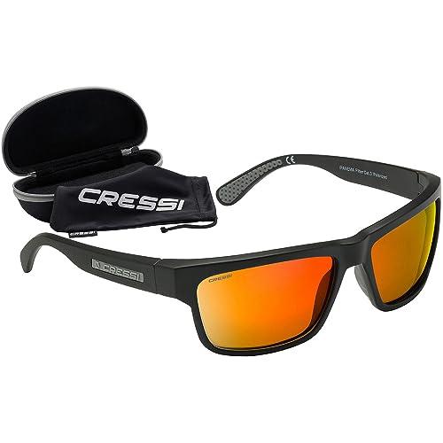 Cressi Ipanema Gafas de Sol, Unisex Adulto, Gris/Lentes espejados Naranja, Talla