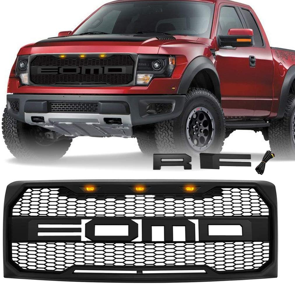 Matte Black Front Grill 在庫あり for Fd F150 201 2013 出群 2012 2009 2011 2010