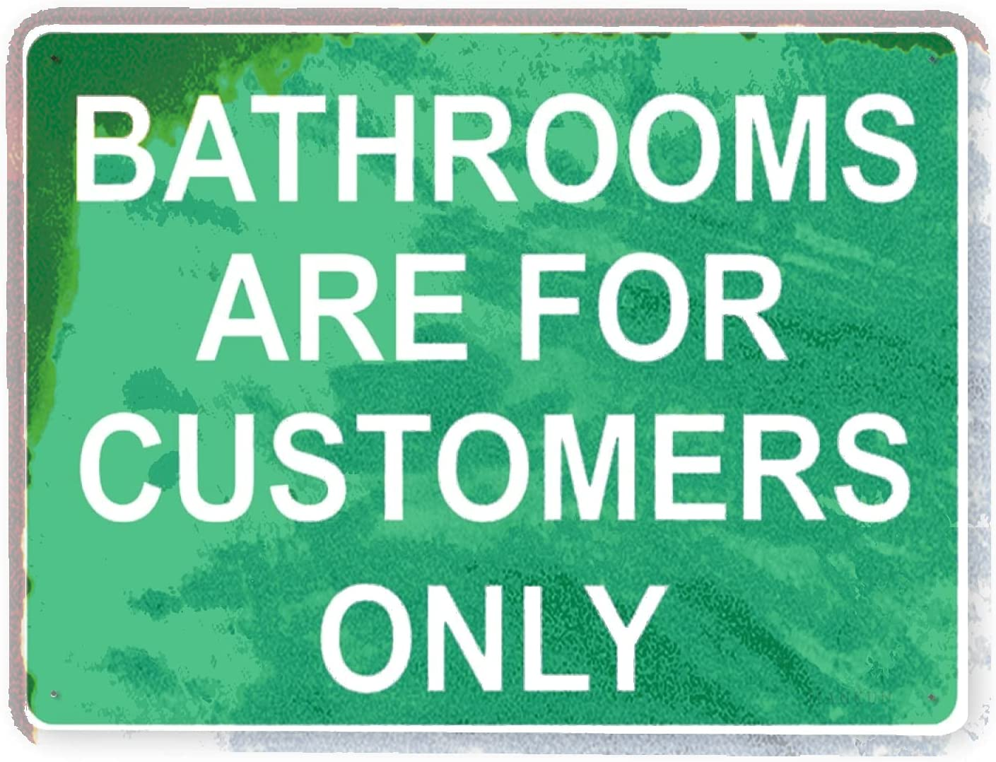 J.DXHYA Finally resale start Man Cave Decor 2 Challenge the lowest price bathroom Pieces Warning Rules Sign