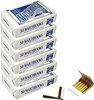 6 Boxes - Plain White Matches Matchbooks for Wedding Birthday Wholesale Made in America (300 Matchbook Total)