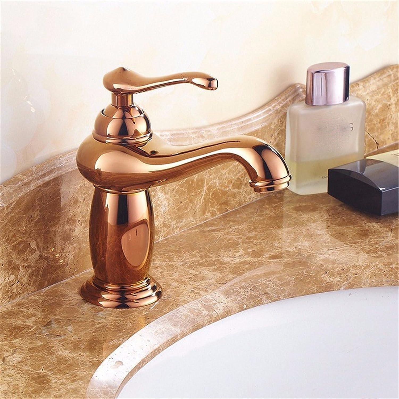 STAZSX European antique hot and cold faucet full copper bathroom bathroom bathroom faucet indoor faucet, D