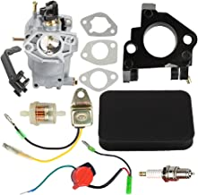 Hilom 0J58620157 Carburetor with Air Filter Insulator Oil Sensor for Generac GP5500 GP6500 GP6500E GP7500E 8125W Jingke Huayi Kinzo Ruixing 13HP 14HP 15HP 16HP 188F 190F Portable Generator