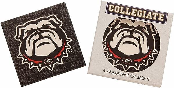 Georgia Bulldogs Collegiate Absorbent Square Coasters Set Of 4