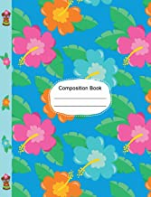 Beautiful Hawaiian Hibiscus Flowers Dot Grid Paper: 130 Dotted Pages 7.44 x 9.69 Dotted Grid Journal, To Do List School Teachers, Students Subject Book