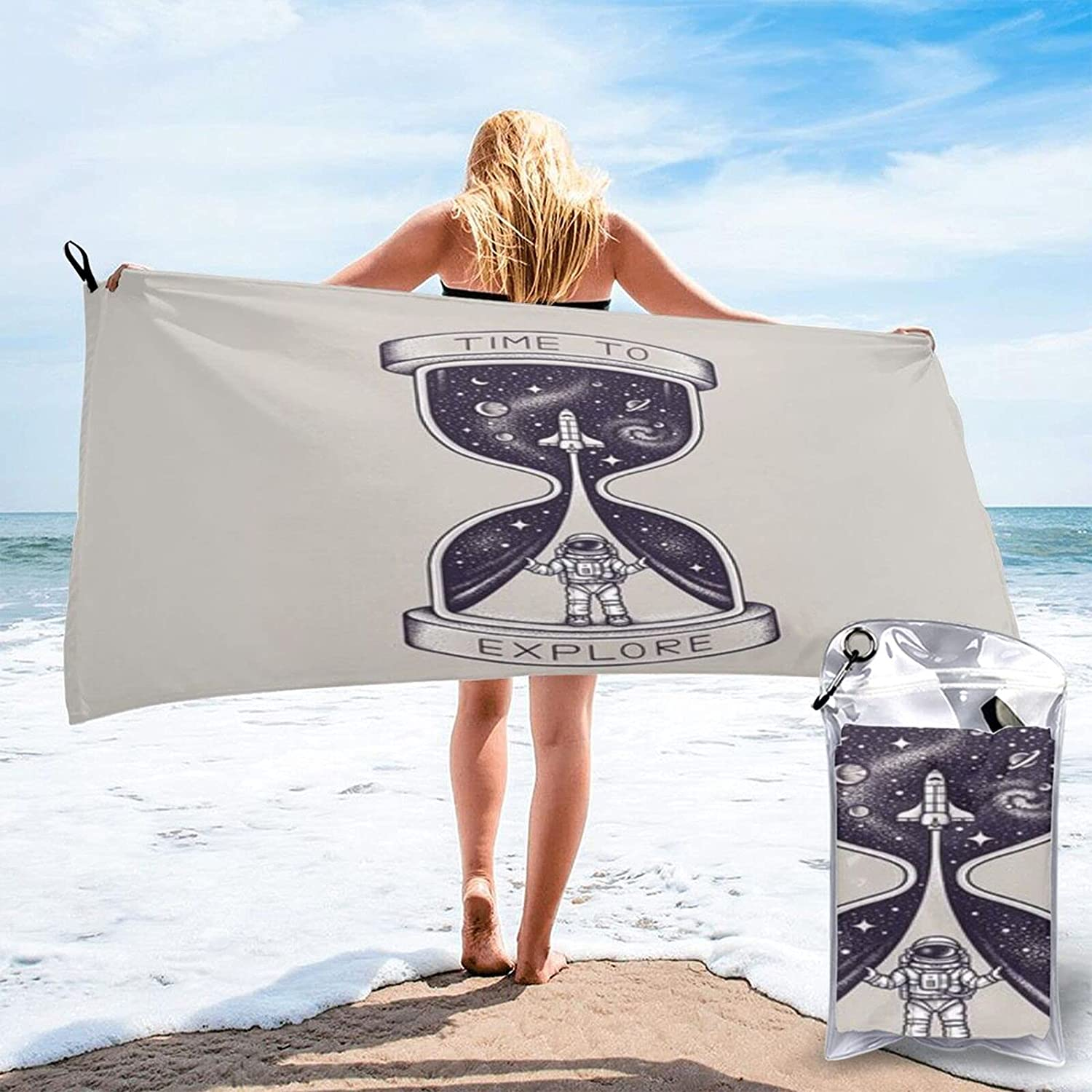 Time to Explore Microfibre Pool Beach Towels Travel Manufacturer direct delivery Li Dry Reservation Quick