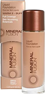 Mineral Fusion Liquid Foundation, Warm 2, 1 Fl Oz (Packaging May Vary)
