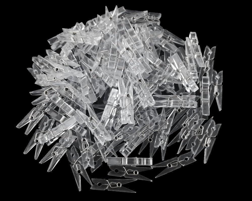 Max Max 51% OFF 57% OFF 50 Pcs Clear Plastic Clothes Line Clips Clip Photos Paper C Mini