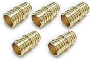 (Pack of 5) EFIELD PEX 1 INCH COUPLING CRIMP BRASS FITTING(NO LEAD) 5 PIECES