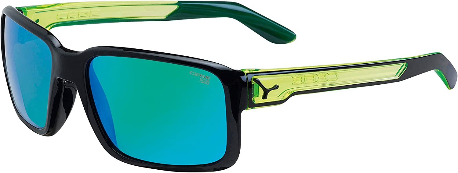 Cébé - Lunettes de soleil - Mixte Multicolore (Neon Green/Dude Shiny Black Cristal Yellow 1500 Grey Fm Green)