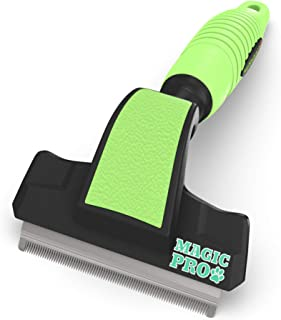 Professional Magic Pro Deshedding Tool; Reduces Shedding by up to 95%; Prevents Flakiness..