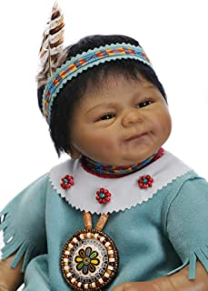"18"" Rare Alive Native American Indian Reborn Baby Dolls Kits for Kids for Collection"