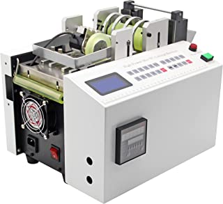 Hanchen Auto Heat-shrink Tube Cutting Machine Precise Cable Cutter for Sleeve, Rubber,Plastic,PE,Mylar,Glass Fiber,Copper foil Pipe, Wire, Sheet, Film Accuracy0.1MM 100Slices/Min with 100MM Max Width