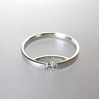 Anillo mini ARC de oro blanco y diamante. TALLA 13