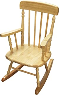 Gift Mark Deluxe Children's Spindle Rocking Chair, Natural