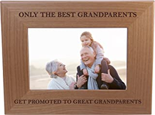 CustomGiftsNow Only The Best Grandparents Get Promoted to Great Grandparents – Wood..