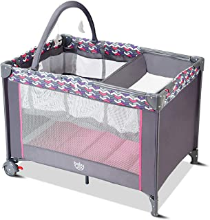 baby playard with changing table