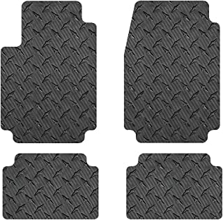 Intro-Tech MB-172-CF Front and Second Row 4-Pc. Custom Fit Auto Floor Mats for Select Mercedes (W460/461) 4 dr LWB G-Class Models - Simulated Carbon Fiber