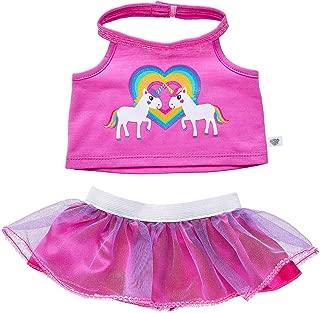 Build A Bear Workshop Unicorn Friends Skirt Set 2 pc.