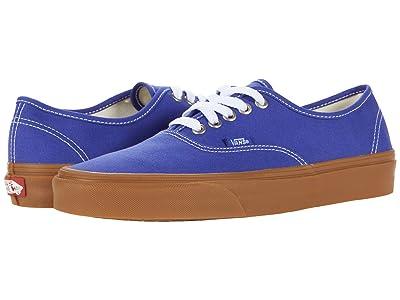 Vans Authentic ((Gum) Spectrum Blue/True White) Skate Shoes