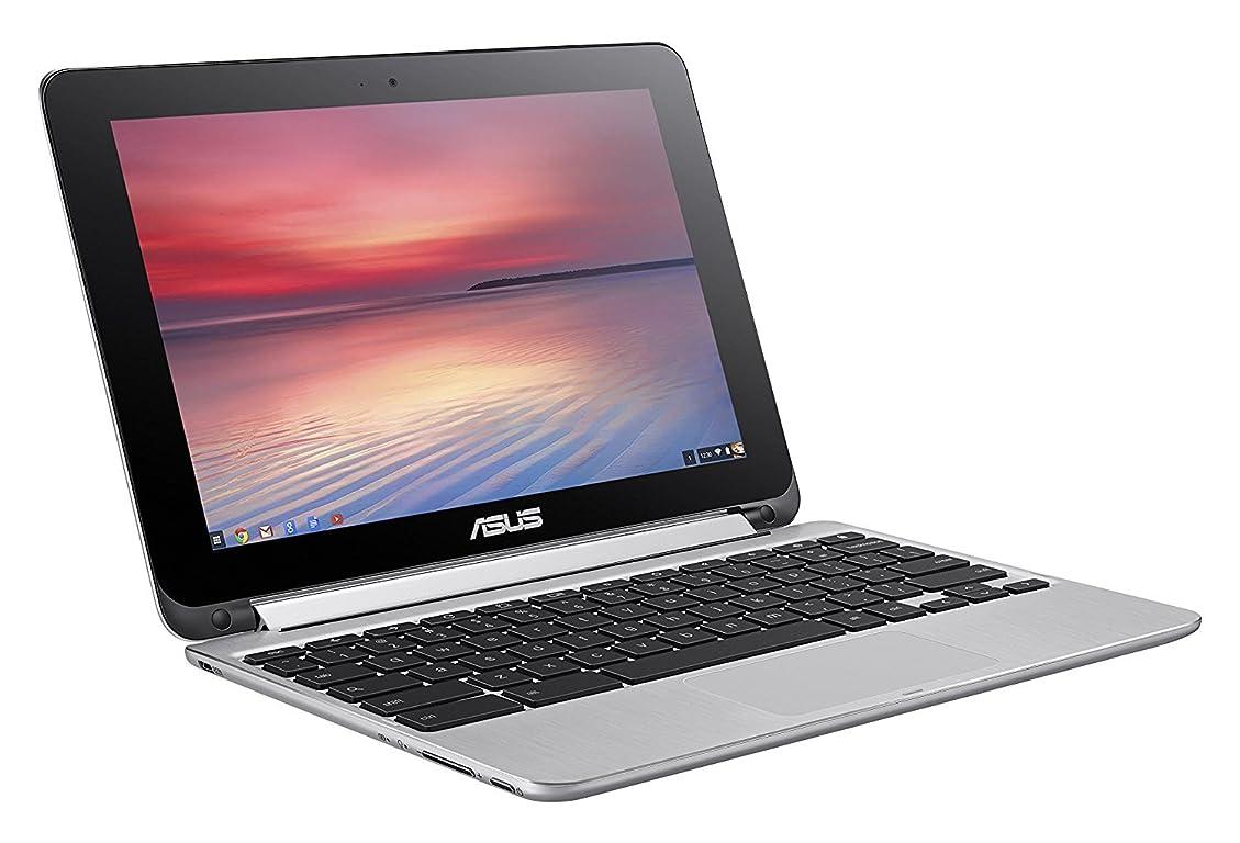 バレルたまに突進ASUS Flip 2-in-1 C100PA-DS03 10.1-inch Touch Chromebook (1.8GHz, 4GB Memory, 32GB eMMC, Chrome OS), Silver [並行輸入品]