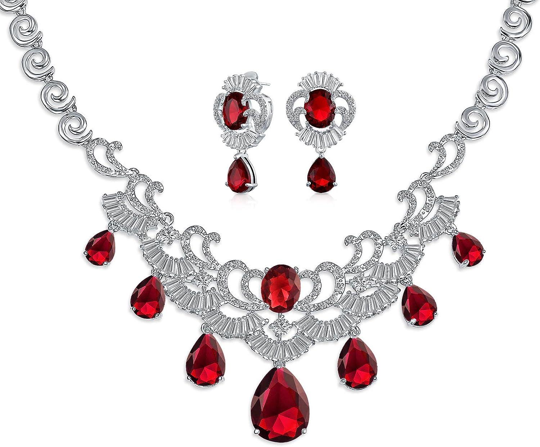 Bling Jewelry Large Bridal Art Deco Baguett Seasonal Wrap Introduction Style Teardrop Multi Challenge the lowest price of Japan ☆