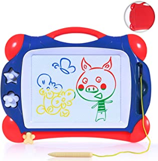 Toch Magnetic Drawing Board, Colorful Doodle Board Drawing Writing Sketching Pad Gift for kids