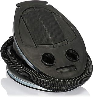 com-four® Bomba de Aire de pie con 2 boquillas de Aire, Bomba de Aire con un Volumen de 3 litros, para inflar y aspirar colchones y Objetos inflables