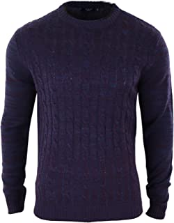 dh-twisted Mens Knitted Wool Feel Smart Casual Tailored Fit Jumper Top