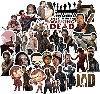 50PCS The Walking Dead TV Stickers Horrific Sticker Laptop Computer Bedroom Wardrobe Car Skateboard Motorcycle Bicycle Mobile Phone Luggage Guitar DIY Decal (The Walking Dead 50)